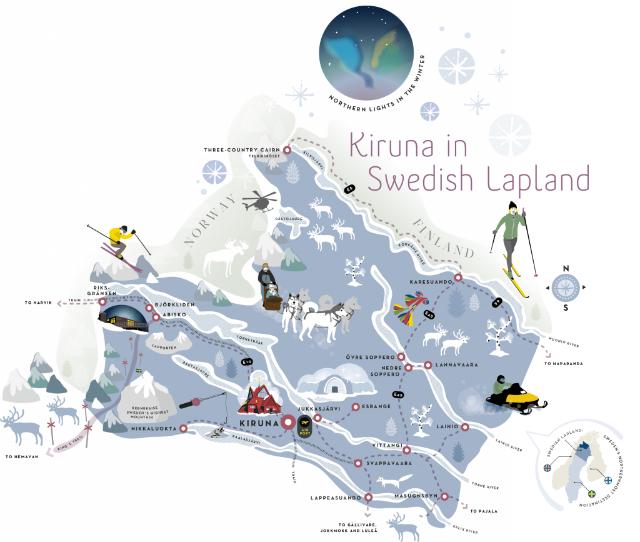 Kiruna in Swedish Lapland